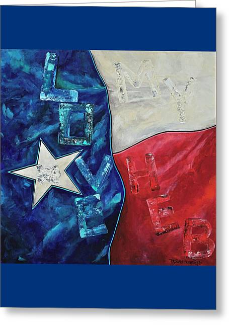 Greeting Card featuring the painting Love My Heb by Patti Schermerhorn