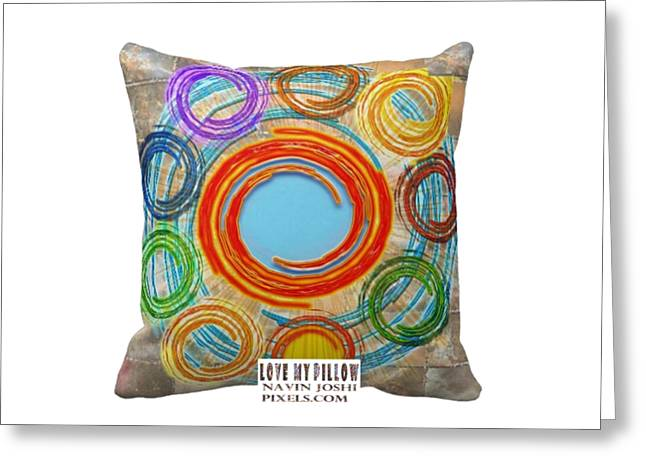 Love My Pillows Colorful Circles By Navinjoshi Artistwebsites Fineartamerica Pixels Greeting Card