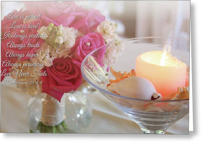 Greeting Card featuring the photograph Love Never Fails by Trina Ansel