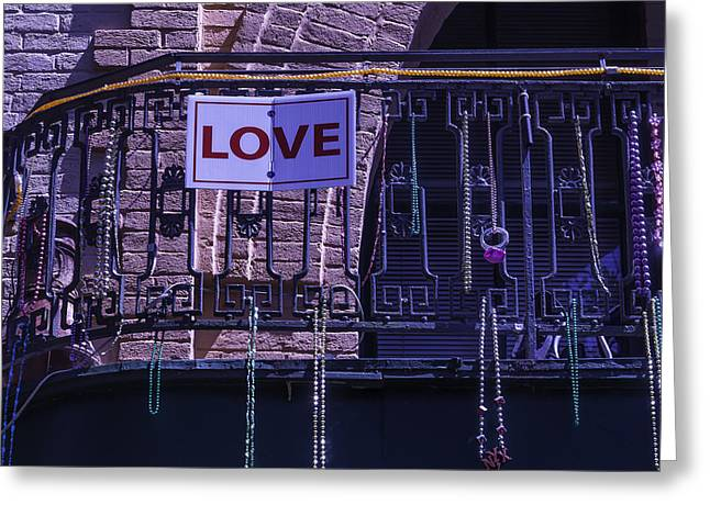 Love New Orleans Greeting Card by Garry Gay