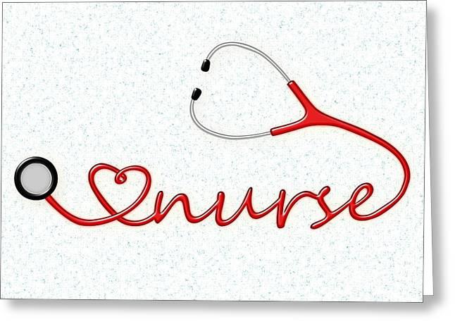 Love Nurse Greeting Card