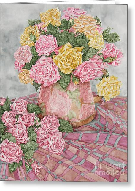 Love Of Roses Greeting Card by Kim Tran