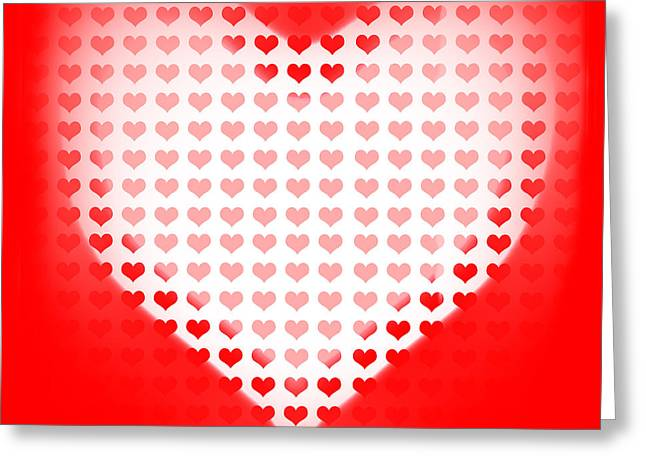 Love Of Valentines Background. Big Red Heart Greeting Card by Jorgo Photography - Wall Art Gallery