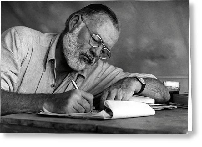 Love Of Writing - Ernest Hemingway Greeting Card