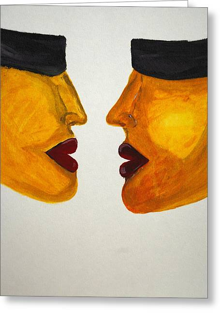 Love-on-line Greeting Card by Irum Iftikhar