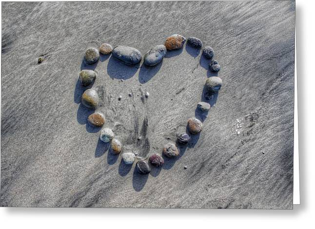 Love On The Rocks Greeting Card by Jane Linders