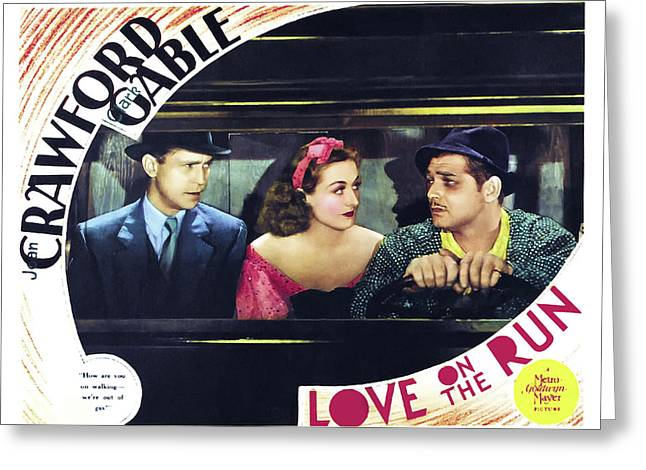 Love On The Run 1936 Greeting Card by M G M