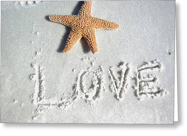 Love On The Sand Greeting Card