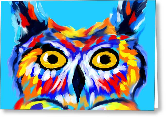Love Owl Ways And Forever Greeting Card by Abstract Angel Artist Stephen K