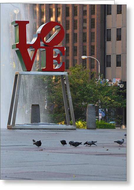 Love Park - Center City Philadelphia Greeting Card
