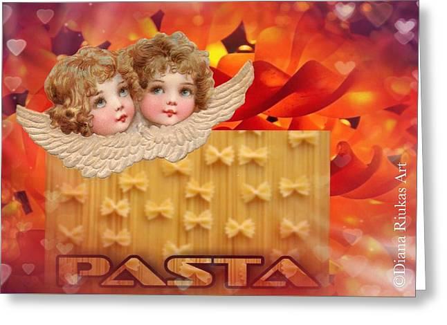 Love Pasta Greeting Card by Diana Riukas