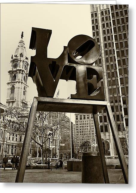 Love Philadelphia Greeting Card by Jack Paolini