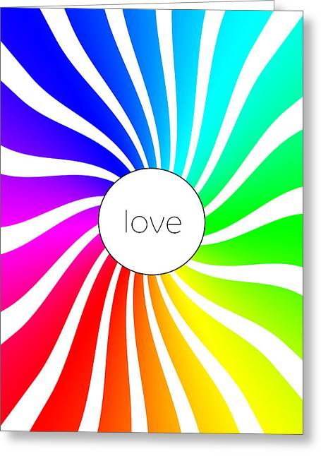Love - Rainbow Swirl Greeting Card