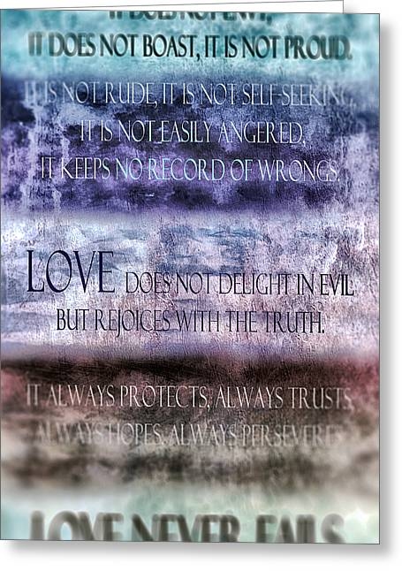 Love Rejoices With The Truth Greeting Card