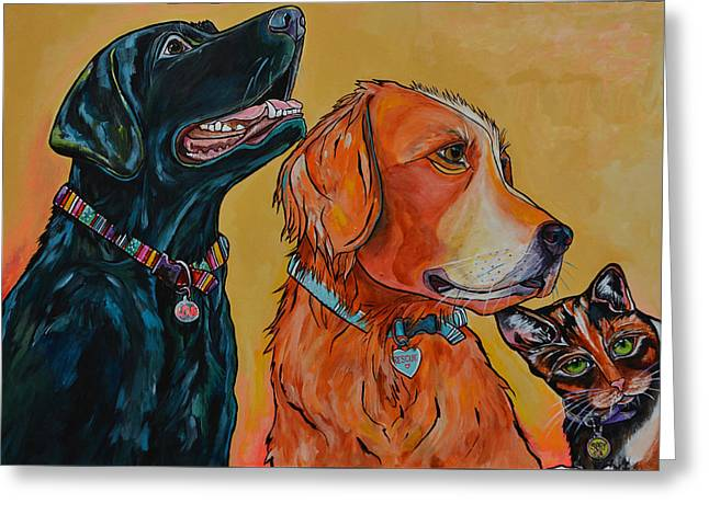 Greeting Card featuring the painting Love Rescue Spay by Patti Schermerhorn