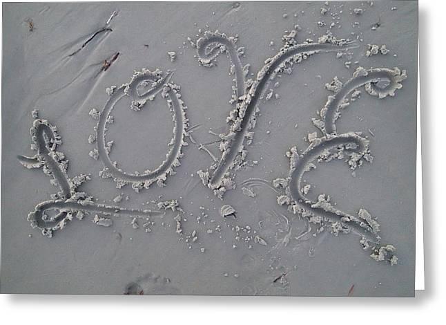 Love Greeting Card by Robert Nickologianis