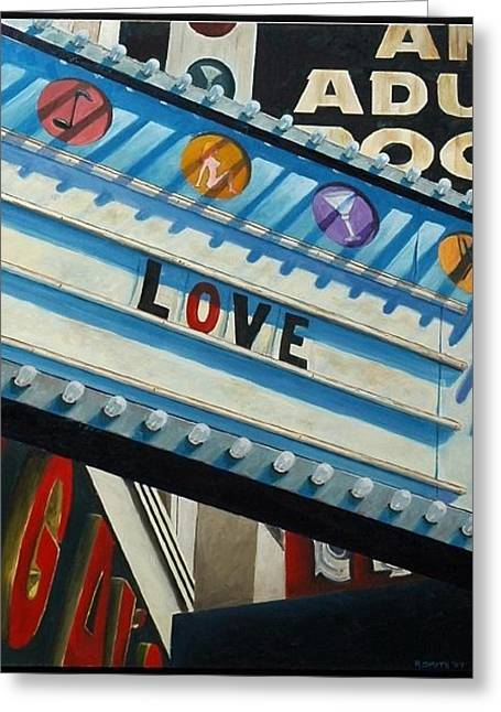 Love Greeting Card by Robert Smith