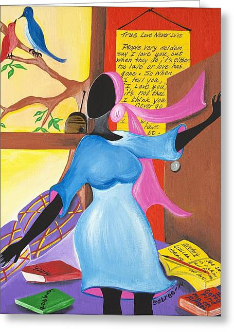 Love Song Greeting Card by Patricia Sabree