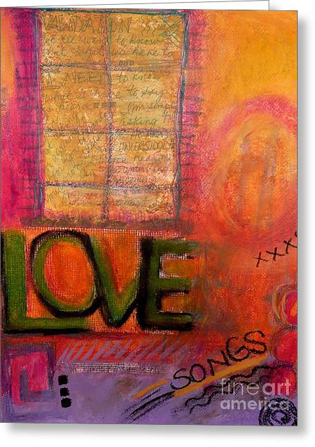 Love Songs Greeting Card by Angela L Walker