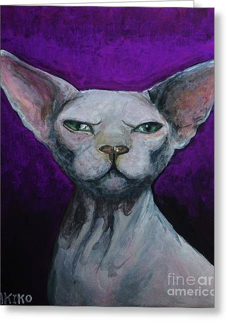 Love Sphynx Cat Greeting Card