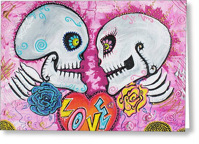 Love Story Greeting Card by Laura Barbosa
