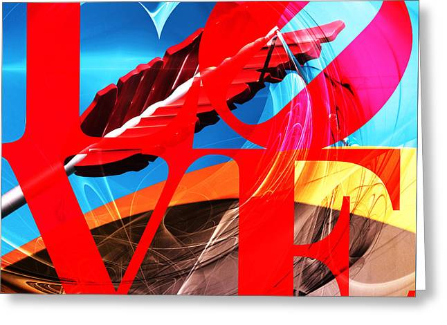 Love Swirls At The San Francisco Cupids Span Sculpture Dsc1819 Greeting Card