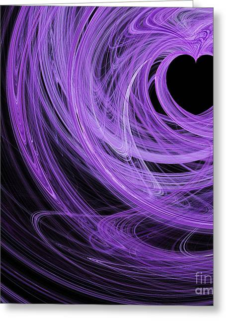 Love Swirls . Square . A120423.689 Greeting Card