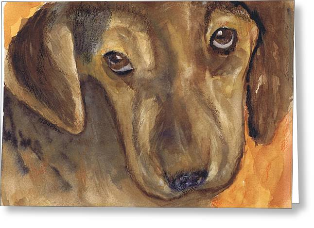 Love That Dog Greeting Card by Marilyn Barton