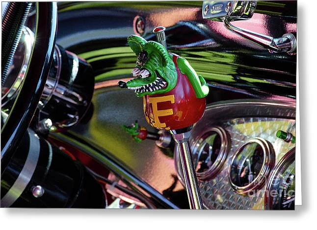 Love The Rat Fink Greeting Card by Bob Christopher