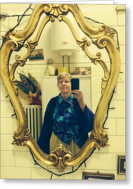 Love Those Italian Mirrors Greeting Card by Kenlynn Schroeder