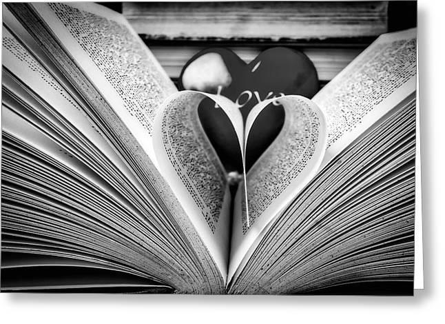 Love To Read Books In Black And White Greeting Card