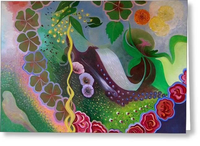 Greeting Card featuring the painting Love by Tone Aanderaa