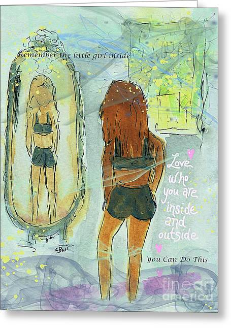 Greeting Card featuring the mixed media Love Who You Are  by Claire Bull