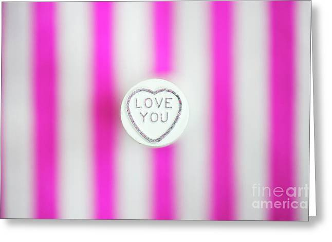 Love You Greeting Card by Tim Gainey