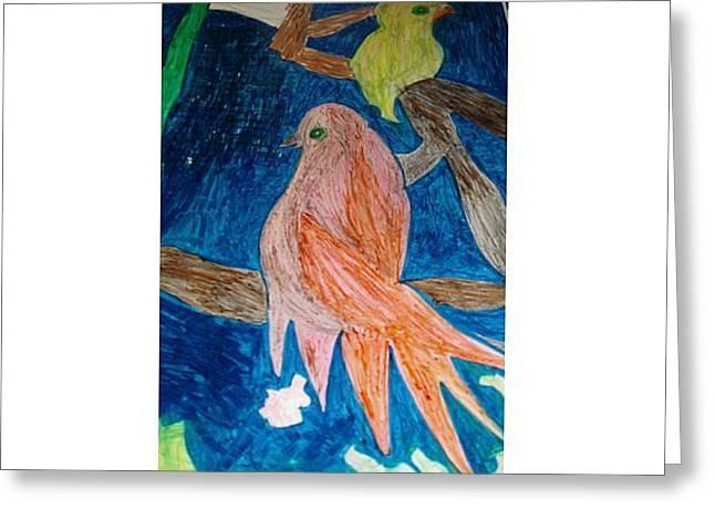 Lovebirds Greeting Card by Golden Dragon