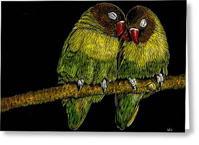 Lovebirds Greeting Card