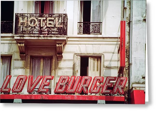 Loveburger Hotel Greeting Card