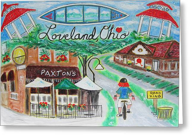 Loveland Ohio Greeting Card by Diane Pape