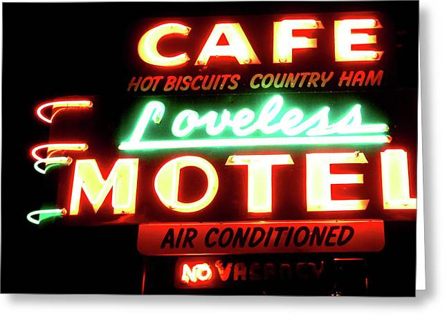 Loveless Cafe- Art By Linda Woods Greeting Card by Linda Woods