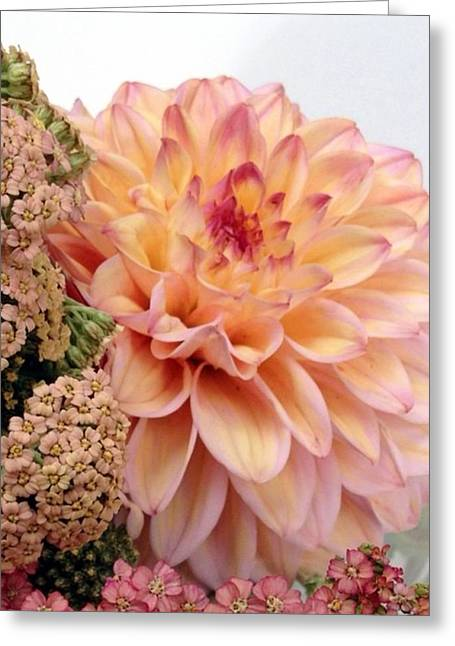 Dahlia Flower Bouquet Greeting Card