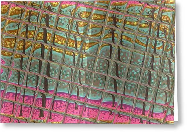 Abstract Digital Mixed Media Greeting Cards - Lovells Reflections Greeting Card by Alan Hogan