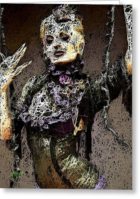 Greeting Card featuring the mixed media Lovely Agony by Al Matra