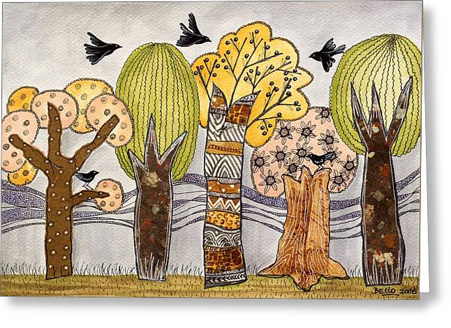 Lovely Autumn Greeting Card by Graciela Bello