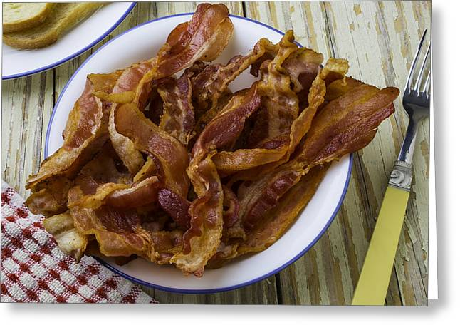Lovely Bacon Greeting Card by Garry Gay