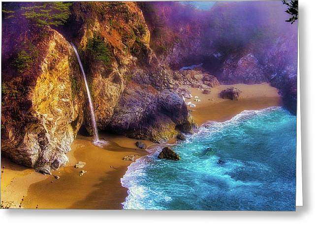 Lovely Big Sur Falls Greeting Card