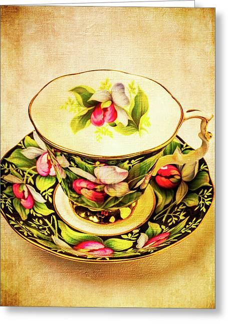 Lovely Floral Tea Cup Greeting Card