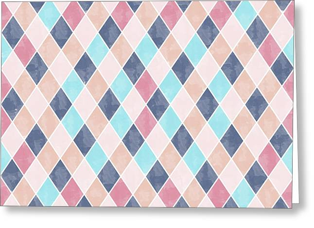 Lovely Geometric Pattern Vi Greeting Card by Amir Faysal
