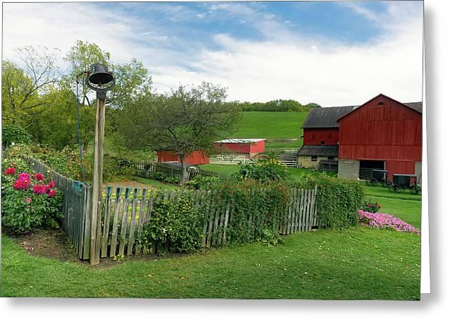 Lovely Ohio Amish Farm Greeting Card