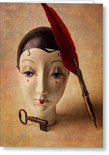 Lovely Old Antique Doll Greeting Card by Garry Gay