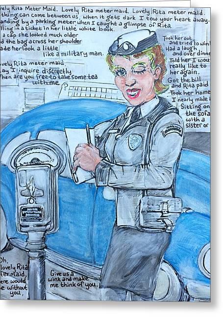 Lovely Rita Greeting Card by Jonathan Morrill